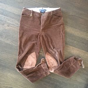 Ralph Lauren brown corduroy riding pants.